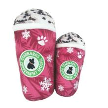 Starbarks Puppermint Mocha Plush Dog Toy - Red Snowflake Cup