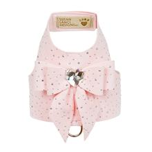 Stardust Tail Bow Heart Bailey Dog Harness by Susan Lanci - Puppy Pink