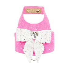 Stardust White Tail Bow Heart Bailey Dog Harness by Susan Lanci - Perfect Pink