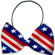 Stars and Stripes Dog Bow Tie