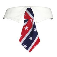 Stars and Stripes Dog Shirt Collar and Tie
