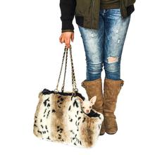 Stella Luxury Fur Dog Carrier - Snow Lynx