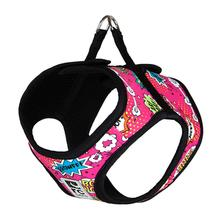 Step-in Cirque Dog Harness - Pink Comic Sounds