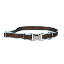 Sterling Dog Collar by Yellow Dog - Brown with Light Blue