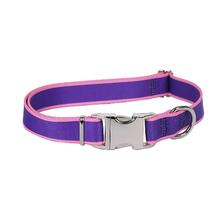 Sterling Dog Collar by Yellow Dog - Purple with Light Pink