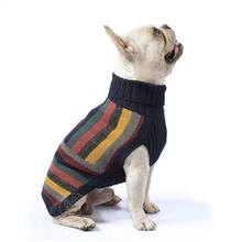Stripe Rendezvous Blue Turtleneck Dog Sweater by Alqo Wasi