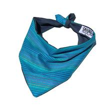 Striped Dog Bandana by Salvage Maria - Teal