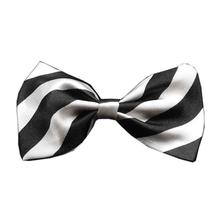 Striped Dog Bow Tie - White