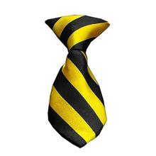 Striped Dog Neck Tie - Yellow