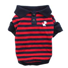 Striped Dog Polo by Dobaz - Navy and Red