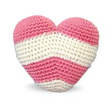 Striped Heart Crochet Dog Toy by Dogo