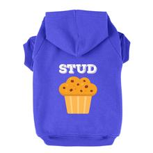 Stud Muffin Dog Hoodie - Blue