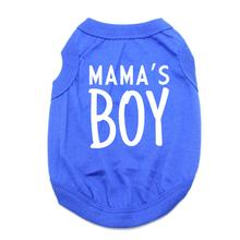 Mama's Boy Dog Shirt - Blue