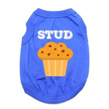 Stud Muffin Dog Shirt - Blue