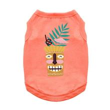 Tiki Drink Tropical Dog Shirt - Coral