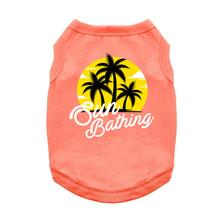 Sun Bathing Dog Shirt - Coral