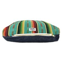 Sundance Serape Rectangulo Dog Bed by Salvage Maria - Teal