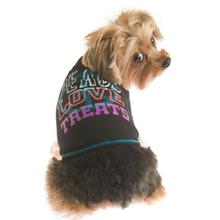 Peace Love Treats Dog Shirt by Ruffluv NYC