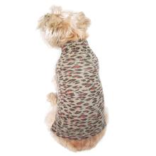 The Dog Squad's Animal Instincts Mock Turtleneck Dog Sweater - Brown Leopard