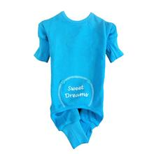 Sweet Dreams Embroidered Dog Pajamas by Doggie Design- Blue