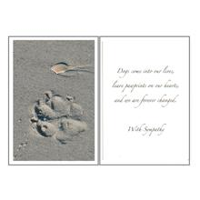 Sympathy Greeting Card by Dog Speak - Paw Prints
