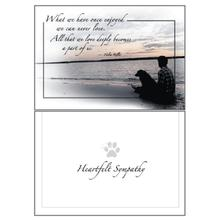 Sympathy Greeting Card by Dog Speak - What We Have Once Enjoyed