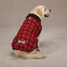 Tailgate Buffalo Plaid Reversible Fleece Dog Jacket - Red