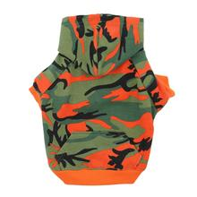 Tailgate Camo Dog Hoodie - Orange