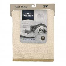 Tall Tails 3 in 1 Dog Blanket Bed - Cream Bone Sherpa