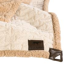 Tall Tails Embossed Bone Micro Sherpa Dog Blanket - Cream and Tan
