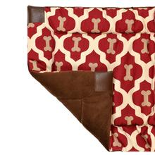 Tall Tails Fleece Blanket Top Dog Bed - Red Bone