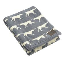 Tall Tails Icon Fleece Dog Blanket - Charcoal