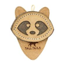 Tall Tails Natural Leather Dog Toy - Raccoon