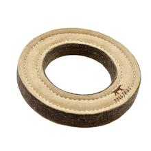 Tall Tails Natural Leather and Wool Ring Dog Toy