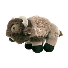 Tall Tails Plush Buffalo Dog Toy with Squeaker - 9