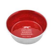 Tall Tails Stainless Steel Dog Bowl - Red