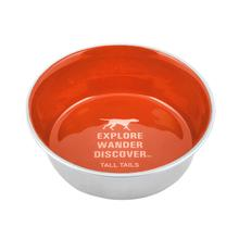 Tall Tails Stainless Steel Dog Bowl - Orange