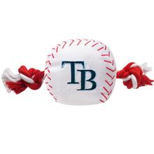 Tampa Bay Rays Nylon Plush Baseball Rope Dog Toy