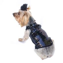 On the Rocks Sequin Dog Tank - Black