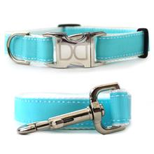 Preppy in Blue Dog Collar and Leash Set by Diva Dog