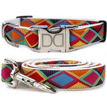 Tanzania Bright Dog Collar and Leash Set by Diva Dog