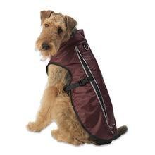 Taos Two-Tone Dog Coat - Cranberry