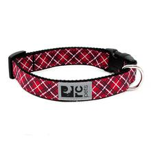 Tartan Adjustable Clip Dog Collar by RC Pets - Red