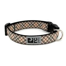 Tartan Adjustable Clip Dog Collar by RC Pets - Tan