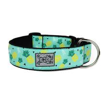 Pineapple Parade Wide Clip Adjustable Dog Collar