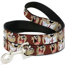 Tasmanian Devil Dog Leash by Buckle-Down - Brown