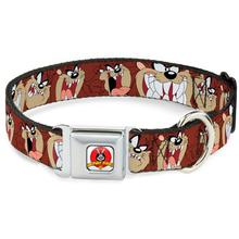 Tasmanian Devil Seatbelt Buckle Dog Collar by Buckle-Down - Brown