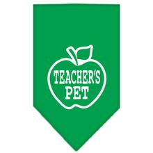 Teacher's Pet Dog Bandana - Emerald Green