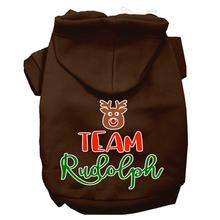 Team Rudolph Dog Hoodie - Brown