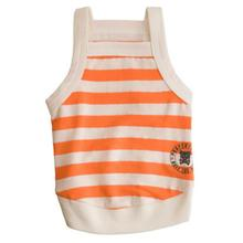 Team Ruffluv Striped Dog Tank Top - Orange